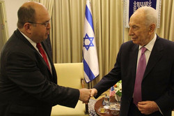 With Israeli President Shimon Peres