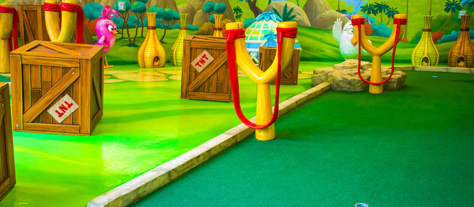 A massive Angry Birds-themed mini golf course is opening next week