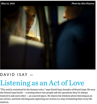 """Listening as an Act of Love"""