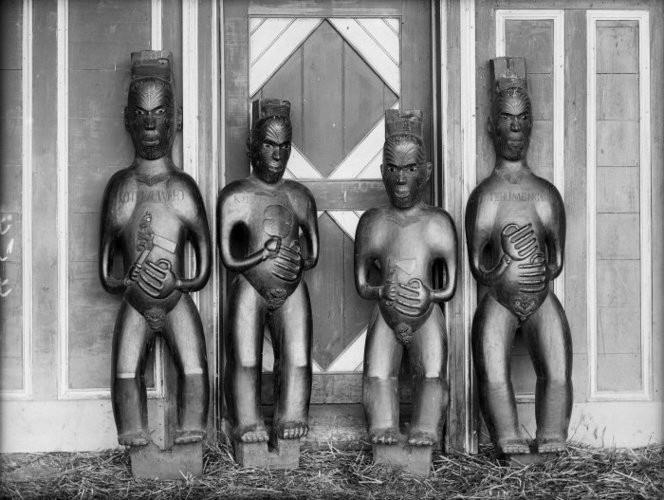 Photo taken at Pawhakairo between 1880-1890. Photo: William Williams Ref-1/1-025857-G.