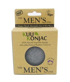 Kuu Konjac 'Gentleman's Bamboo Charcoal' Sponge