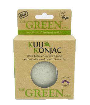 Kuu Konjac 'Green Clay' Sponge