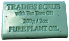 Tradies Scrub Pure Plant Oil Soap 200gm