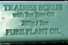 Tradies Scrub Pure Plant Oil Soap 200gm