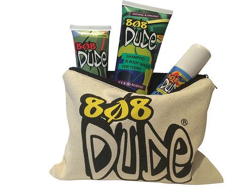 808 Dude Starter Pack - Deodorant, Hair/Body Wash, Facial Wash & Toiletry Bag