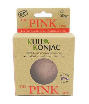 Kuu Konjac 'Pink Clay' Sponge
