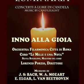 LUMINARIA, concerti a lume di candela: Inno alla Gioia - 11 dicembre 2016