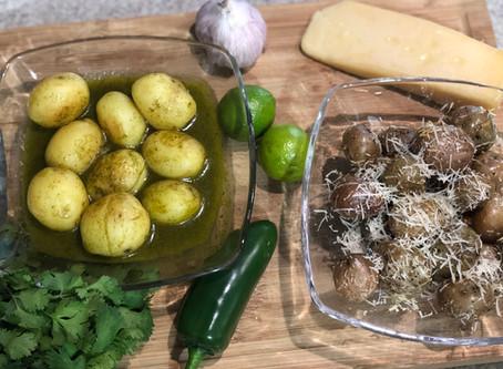 Papas al limón y cilantro y a la parmesana | Recetas