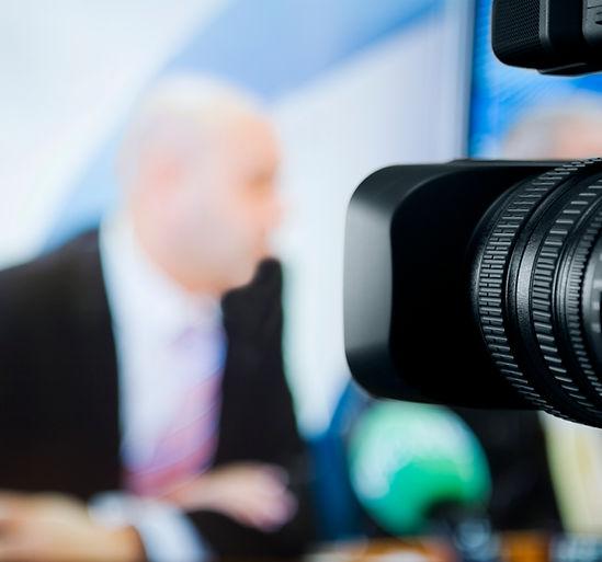 Kamerapräsenz in einer Talkshow