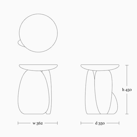 Pebble stool 02
