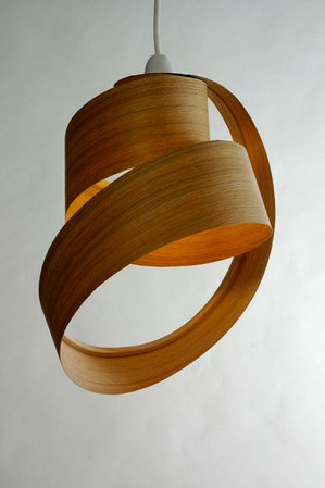 Wooden Veneer Lamp