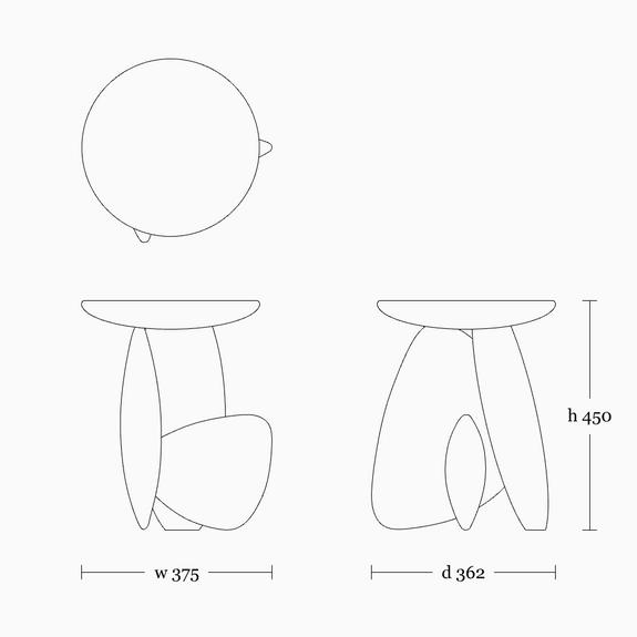 Pebble stool 01