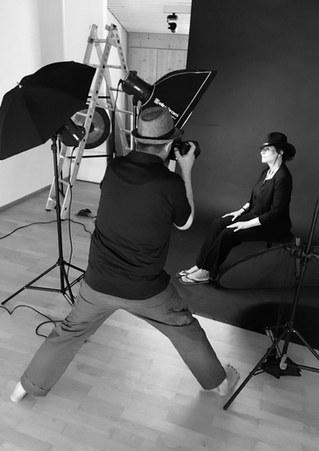 Foto-shooting bei Stefan Huck