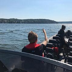 Båtpraktik på Jungfrusund