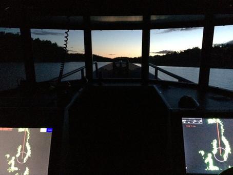 Övningsuppgifter radar för Fartygsbefäl klass VIII utbildning.