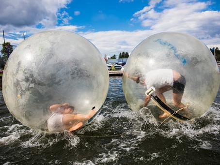 Hur länge kan man vistas i en Waterball?
