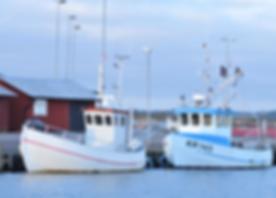 Två små fiskefartyg