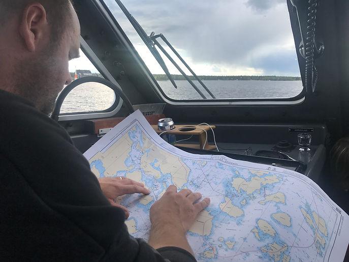 Navigering under högfartskurs