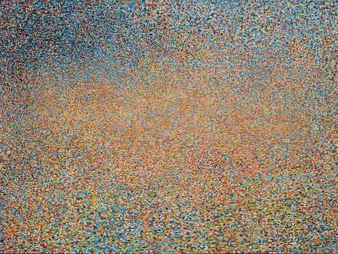 River Raghaf, Tempera on canvas,164-252 cm