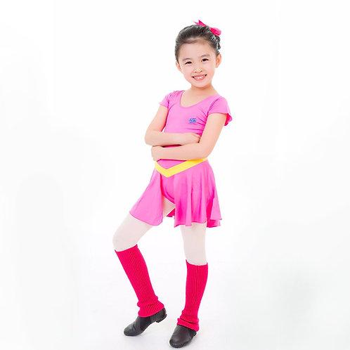 桃紅色連身舞衣