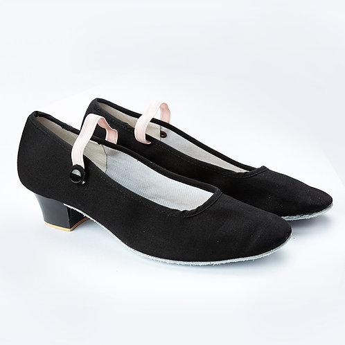 黑色高跟民族舞鞋