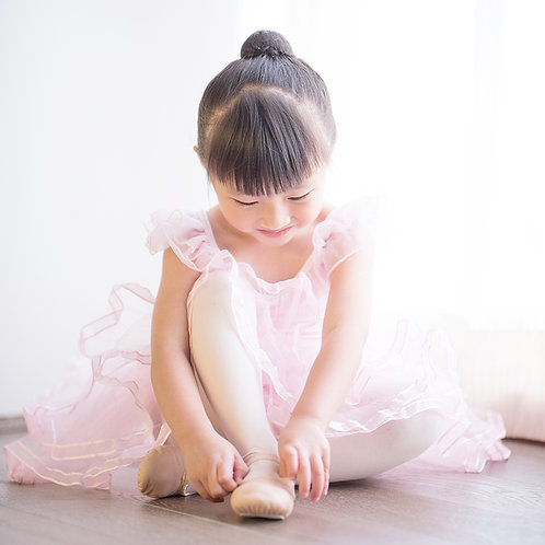 粉紅色羊皮舞鞋