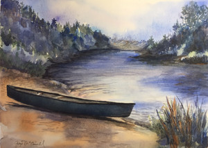 Gaye McConnell - Canoe on Outlet River