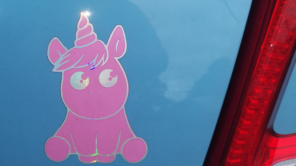 Unicorn Car Decal/Vinyl Sticker (for exterior paint or glass)