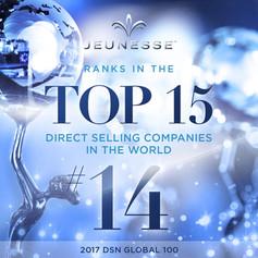 Jeunesse riconosciuta tra le prime 15 aziende di vendita diretta al mondo!