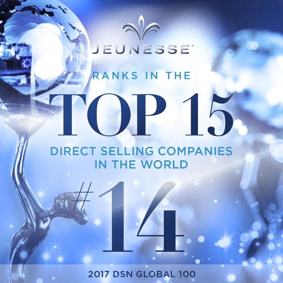 Jeunesse Top 15 DSN Global List 2017 - Rank 14