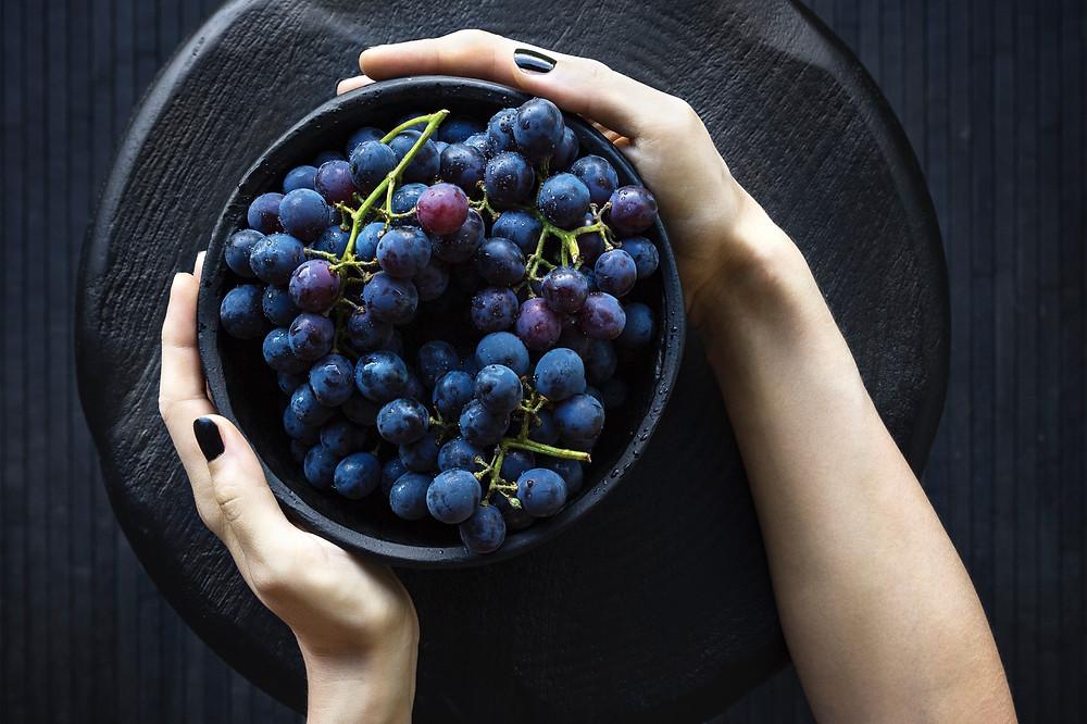Il resveratrolo è contenuto nella buccia dell'uva nera