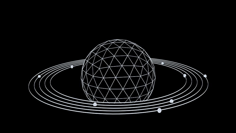 Modello degli anelli di Saturno per spiegare la struttura di un atomo