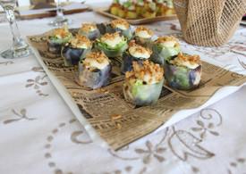 Roll vietnamita de ensalada cesar.