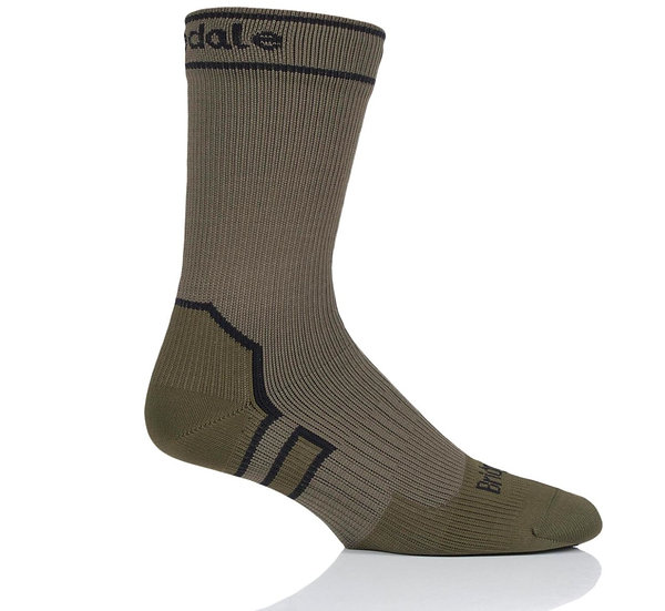 Bridgedale Stormsock Mid Weight Boot Sock Olive Green