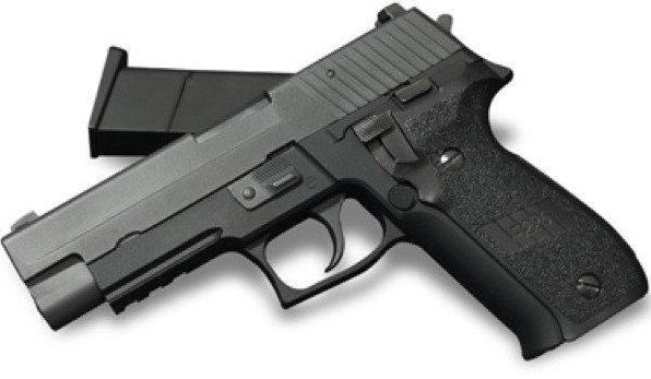 WE F226 Railed Gas Blowback Pistol