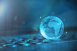 Global & international business concept.
