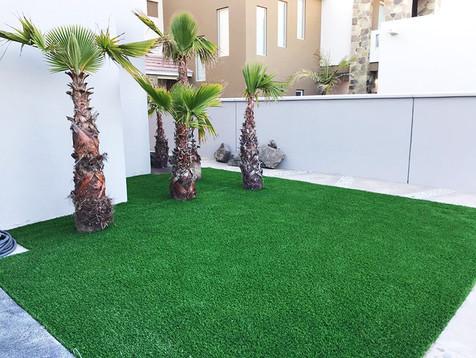 Jardines con pasto artificial en Tijuana, Baja California
