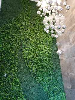 Muros verdes con Follaje Sintetico