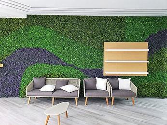 Muros verdes con follaje sintetico en Ti
