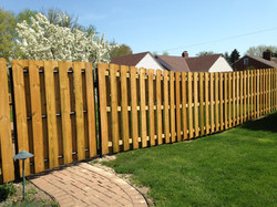 Wood semi privacy fence