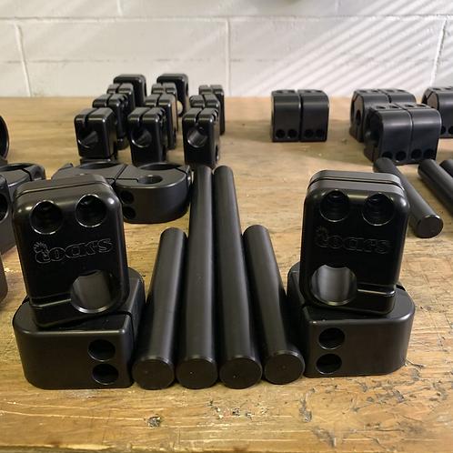 Black Adjustable clip ons