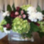 Wedding guest sign-in table arrangement.