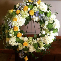 Sympathy wreath. Honored to do this for