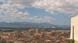 Cagliari widziane z tarasu widokowego