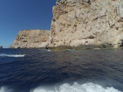na rejscie pod Capo Caccia