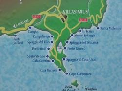 Villasimius mapa