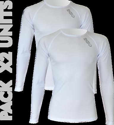 Pack x2ud Camiseta Interior Deportiva EKEKO WARMRACE JHKACTIVE. BLANCAS