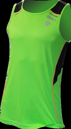 Camiseta Tecnica de Tirantes EKEKO BULLETMAN, Detalles Reflectantes, VERDE