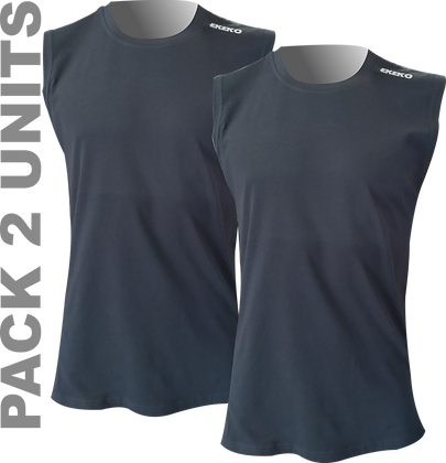 Pack x2ud Camiseta Interior sin mangas. EKEKO DOLOMITAS NEGRAS