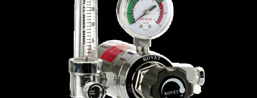 KOVET CO2 Flowmeter Regulator with Electric Heater (KV-194CR)